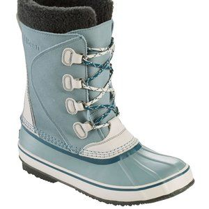 NEW Womens LL BEAN Insulated Snow Boots Steel Blue